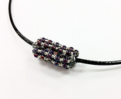 Crystal Tube Beadwork Necklace Jewellery Kit with SWAROVSKI® ELEMENTS Silver/Purple